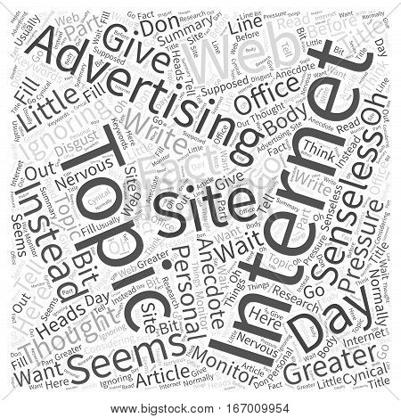 Internet Advertising From The Monitor Into Their Heads Word Cloud Concept