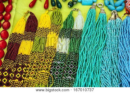 Bead multicilir necklaces ornamental decoration jewelery background