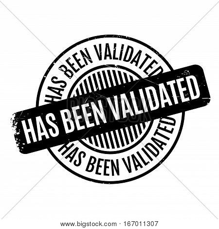 Has Been Validated rubber stamp. Grunge design with dust scratches. Effects can be easily removed for a clean, crisp look. Color is easily changed.