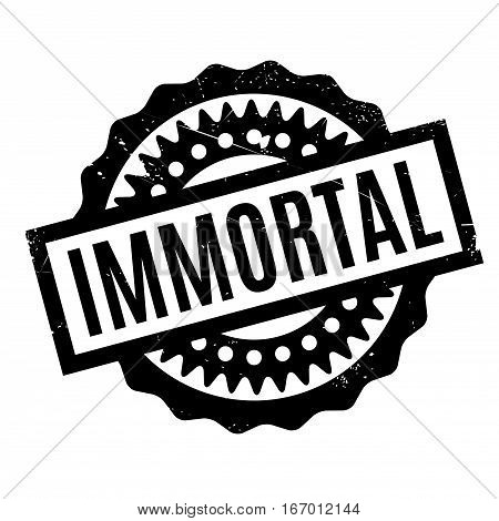 Immortal rubber stamp. Grunge design with dust scratches. Effects can be easily removed for a clean, crisp look. Color is easily changed.