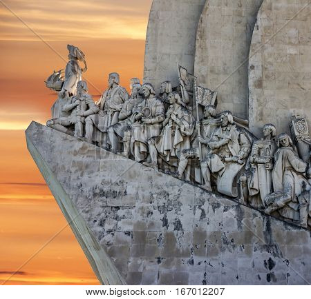 Monument to the Discoveries, Lisbon city, Portugal