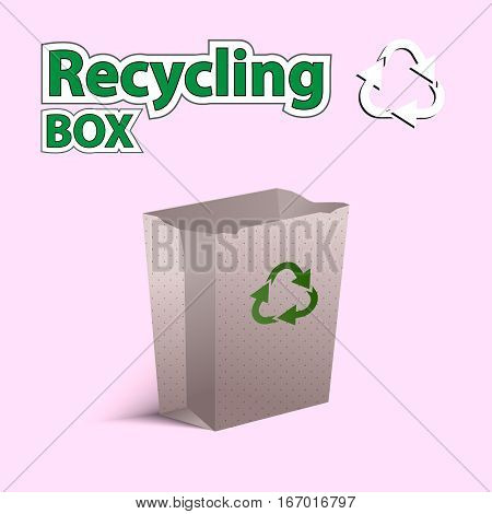 Vector Illustration. Recycling Bag.