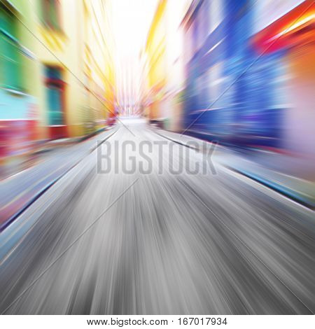 Speed motion on the street.