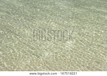 Ripples on the water of the lake on a sunny day