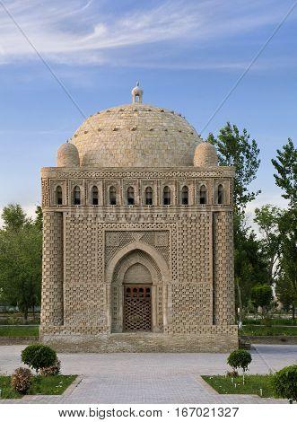 Ismail Samanid Mausoleum in Bukhara, ancient city in Uzbekistan
