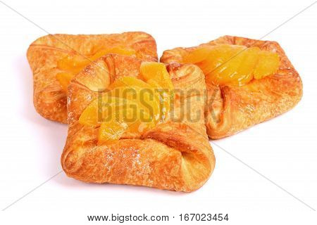 Fresh Buns Covered With Mandarin Slices
