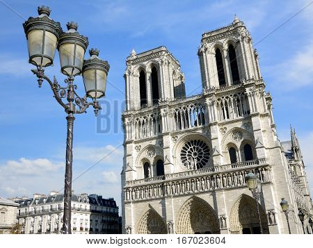Cathedral Notre Dame in Paris, France