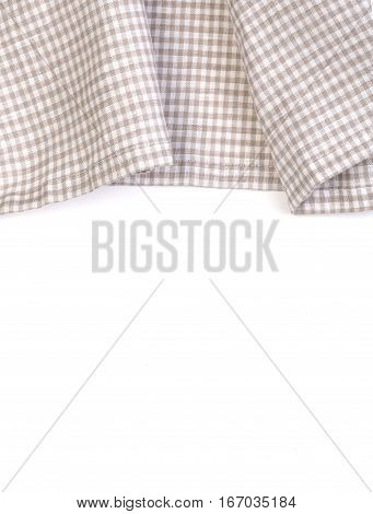 tablecloth on white background crumpled fabric background