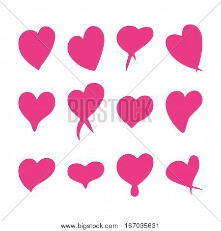 Rose hearts set, Valentine day love adult xxl vintage wedding  invitation design