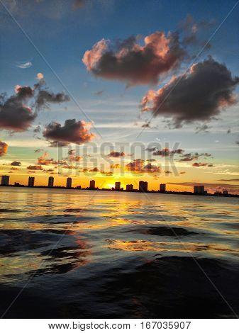 Singer Island, Florida sunrise over the intercoastal waterway