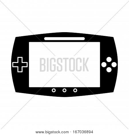 silhouette game console portable play device vector illustration eps 10