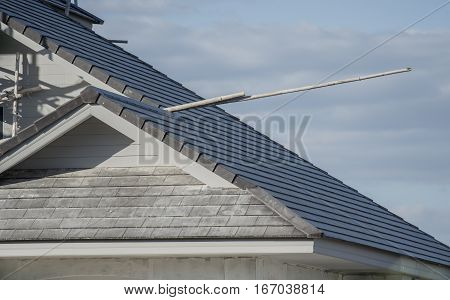 Structural roof using tile roof of building residential construction