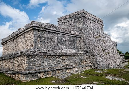 Pyramid El Castillo (the Castle) In Tulum