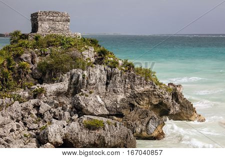 The God Of Winds Temple In Tulum