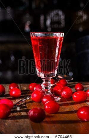 Liqueur Infused With Cranberries -