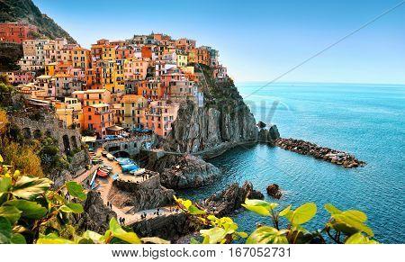 Colorfull Manarolla in Cinque Terre Italy Europe