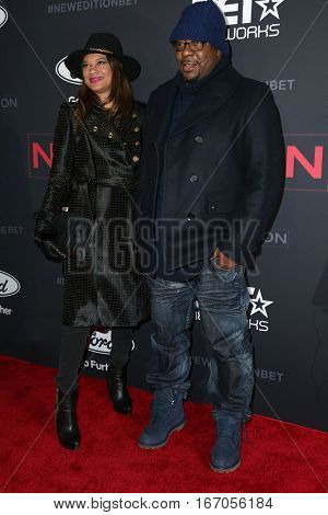 LOS ANGELES - JAN 23:  Alicia Etheredge, Bobby Brown at the BET's