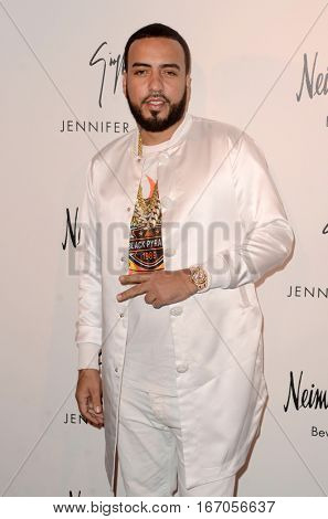 LOS ANGELES - JAN 26:  French Montana at the Jennifer Lopez And Giuseppe Zanotti Celebrate Their New Shoe Collaboration at Neiman Marcus on January 26, 2017 in Beverly Hills, CA