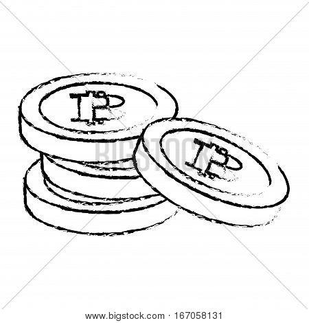Bitcoin icons, digitally moneys symbols, vector illustration