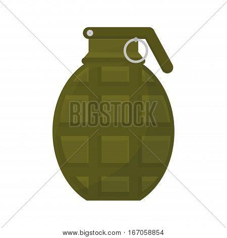 Grenade military equipment icon image vector illustration design