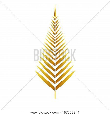 Gold Leaf  vector on white background Gold Leaf  vector on white background