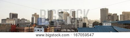 panorama of downtown district of Nairobi, Kenya