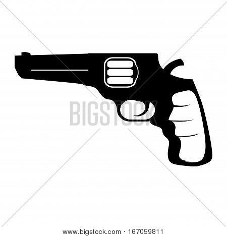 Pistol for civil defense, military equipment vector illustration design