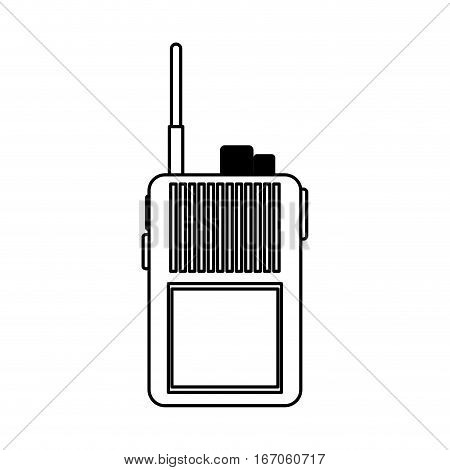 Walkie talkie figure military communication equipment, icon image