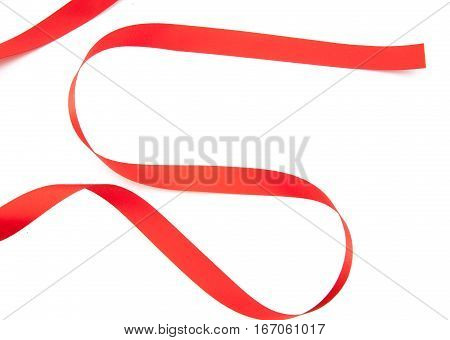 Red Ribbon Serpentine Solated