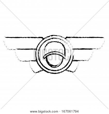 Emblem silhouette with the militar symbol that display military rank image