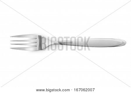 Fork  Stainless Steel Isolated