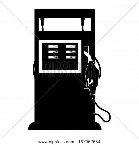 Black gasoline pump nozzle image, vector illustration design
