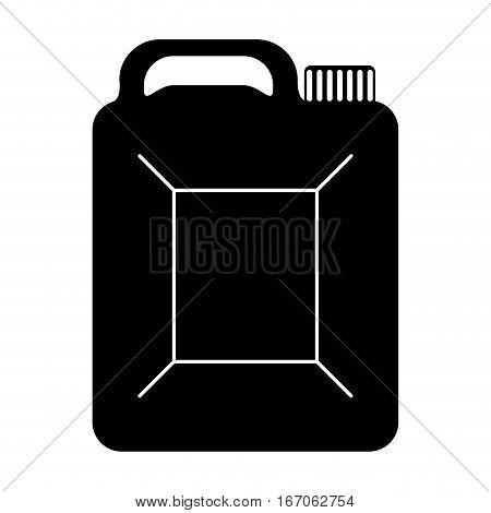 Black canister of gasoline icon image, vector illustration