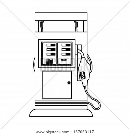Silhouette gasoline pump injector image, vector illustration design