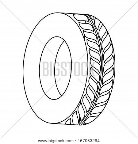 Figure tire of car icon image, vector illustration image