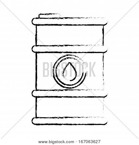 Contour petroleum of barrel with spilled oil, vector illustration design