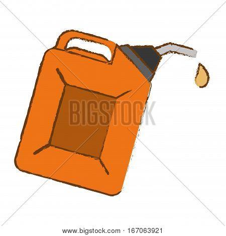 Orange Nozzle giving drop oil, vector illustration