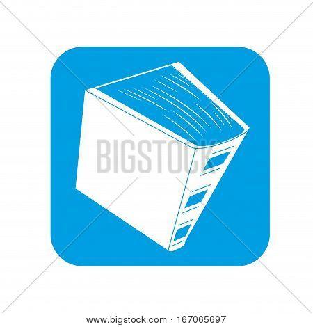 Contour encyclopedia icon image, vector illustration design