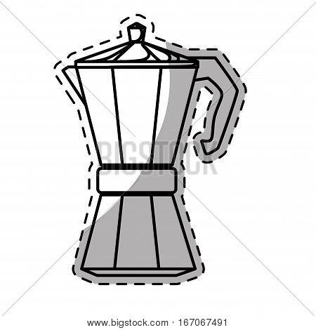 Figure white moka pot icon, vector illustration image