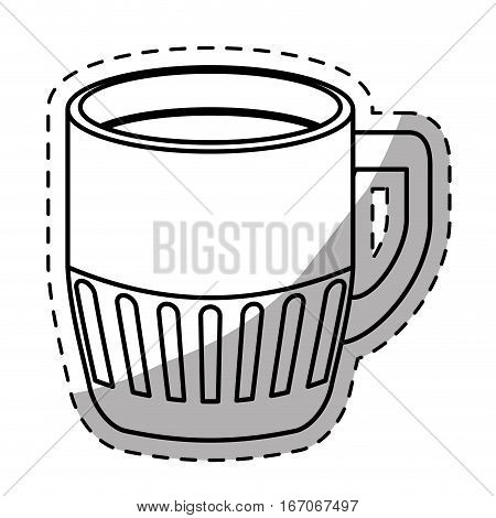 Figure coffee cuppa design image, vector illustration icon