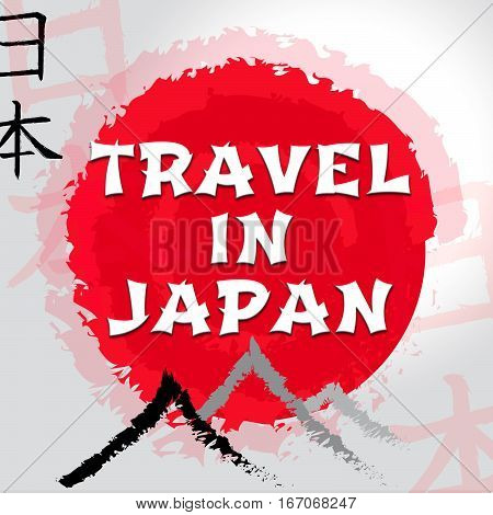 Travel In Japan Shows Japanese Guide And Tours