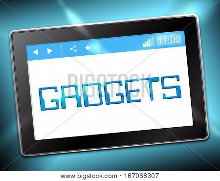 Gadgets Tablet Shows Gizmos Online 3D Illustration