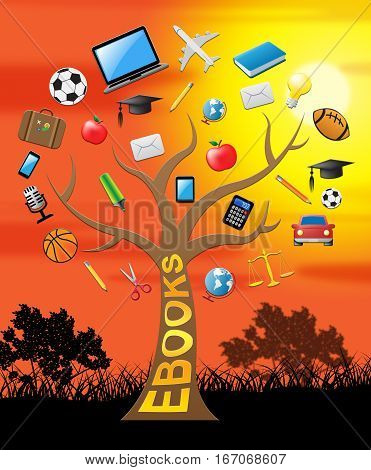 Ebook Tree Indicates Learning And Books