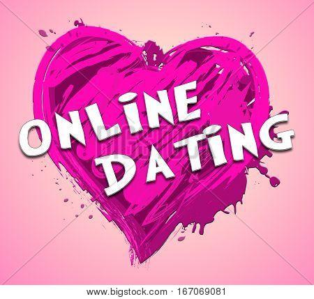 Online Dating Represents Find Love 3D Illustration