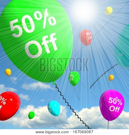 Sale Discount Of Fifty Percent 3D Rendering