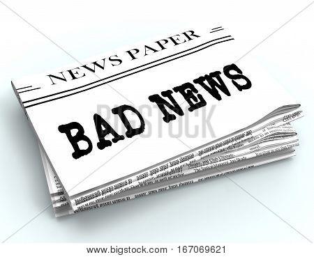 Bad News Represents Terrible Media 3D Rendering