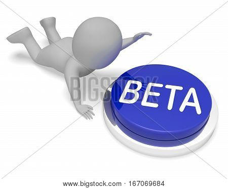Beta Button Means Demo Development 3D Rendering
