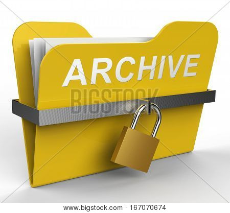 Archive Folder Represents Files Collection 3D Rendering