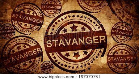 Stavanger, vintage stamp on paper background