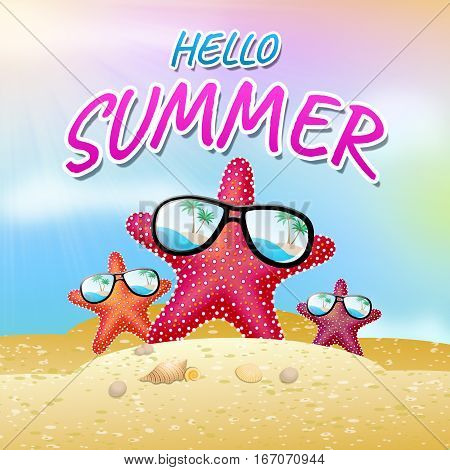 Hello Summer Meaning How Are You 3D Illustration